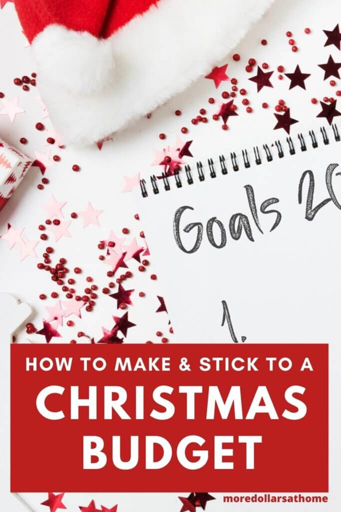 a list of goals on white paper with red glitter behind