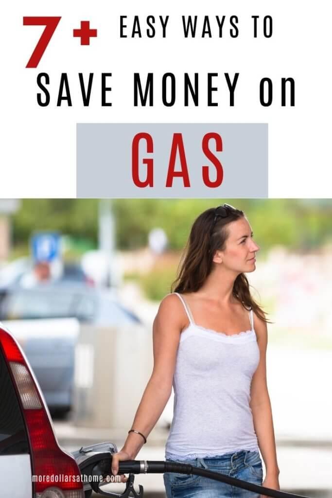 lady saving money on gas