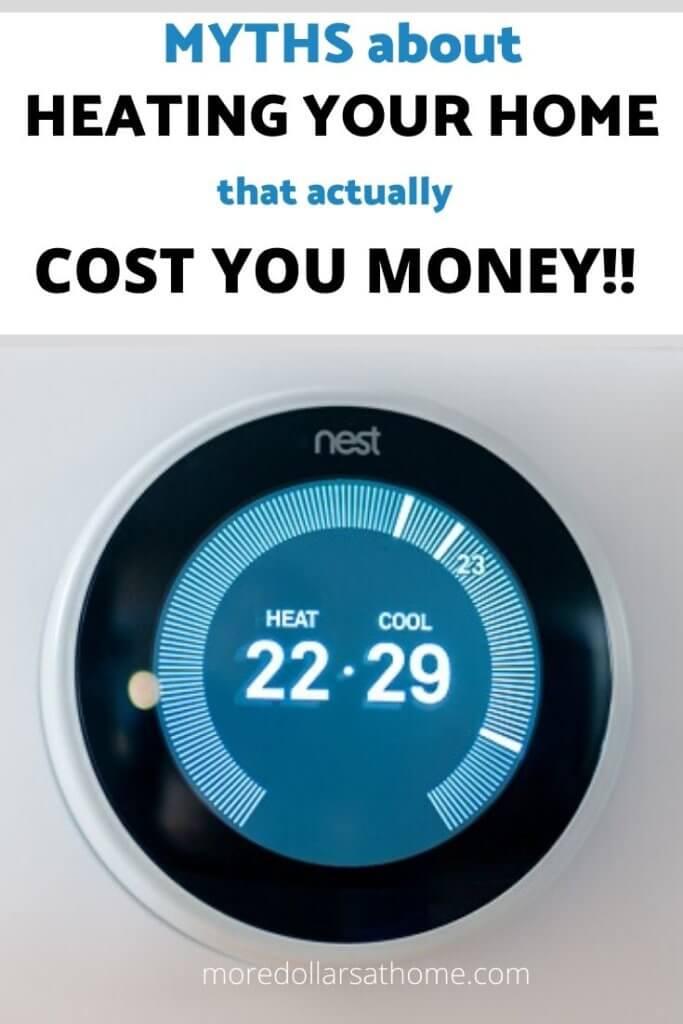 Nest thermostat saving money on heating
