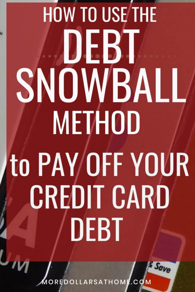 Using the snowball method to pay off debt.