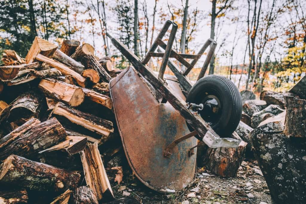 cutting firewood for sale