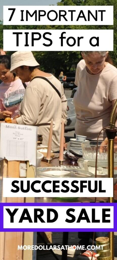 People at a Successful Yard Sale