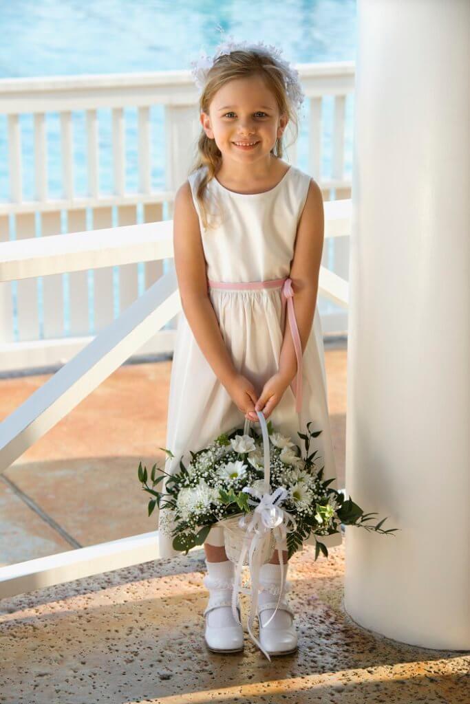flower girl in a pretty dress