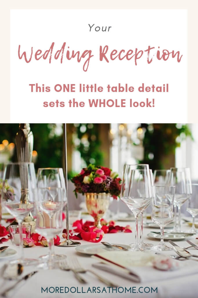 Wedding planning is all about the little things. Don't forget that your choice of napkins can help set your guest table decor at your wedding. #wedding #DIYwedding #dinnerparty