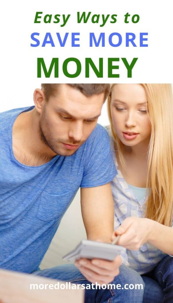 man and woman talking about ways to save more money