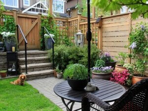 small patio after makeover
