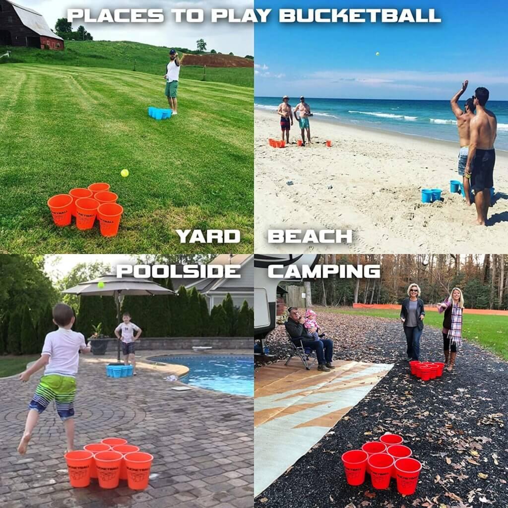 People playing BucketBall