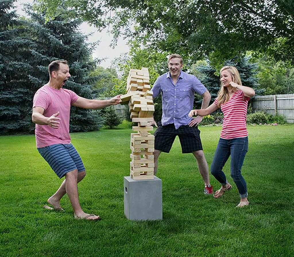 Tumbling Timbers is a fun backyard summer game