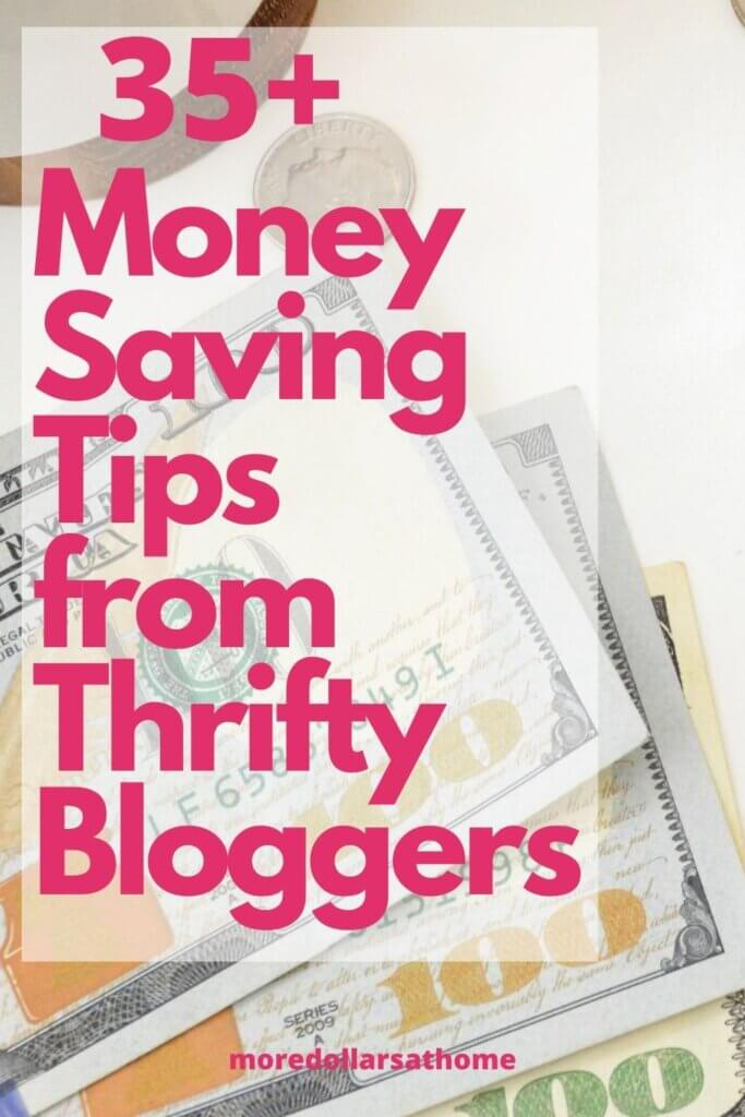 money being saved from thrifty bloggers