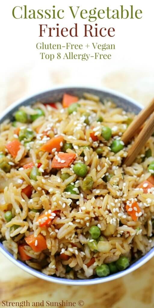 Classic Vegetable Fried Rice dinner ready in 15 minutes