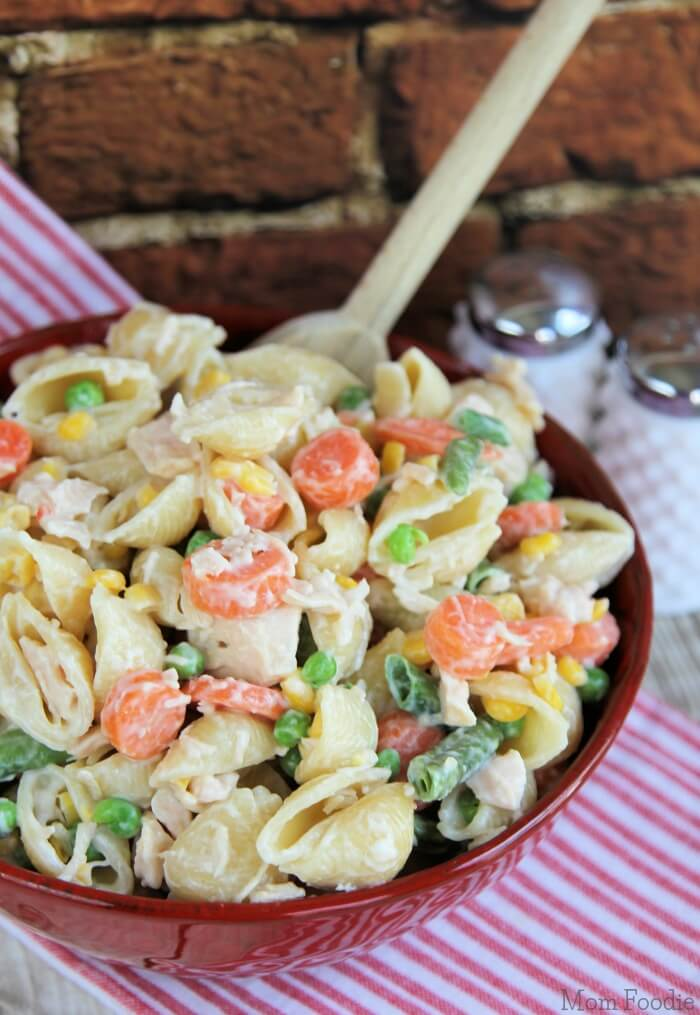 mixed pasta salad ready for dinner in 15 minutes
