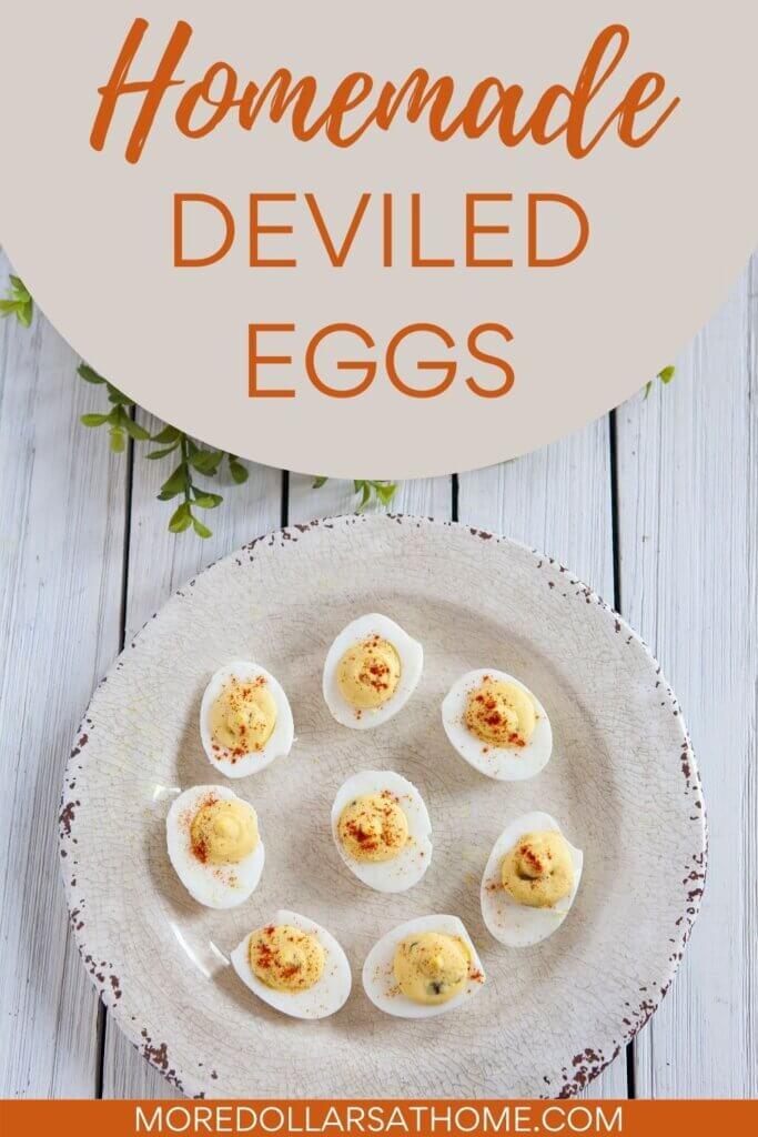 best homemade deviled eggs sit on a serving platter